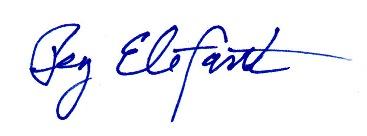 Peg's signature